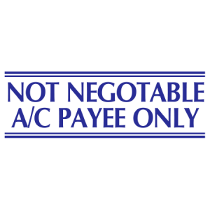Not Negotiable AC Payee Only - Trodat S-Printy