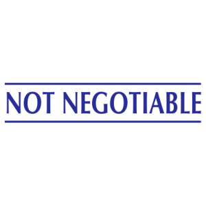 Not Negotiable - Trodat S-Printy - blue