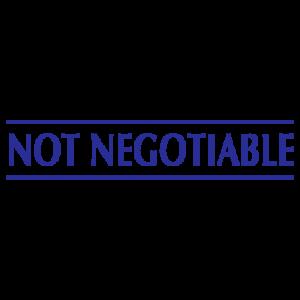 Not Negotiable - Trodat S-Printy - blue