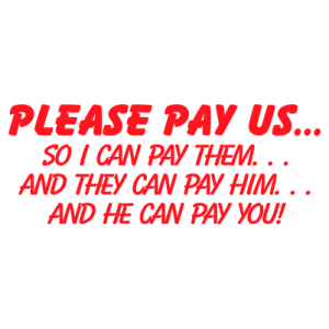 Please Pay Us - Trodat S-Printy
