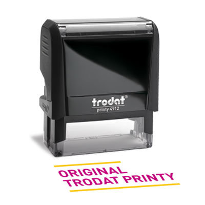 Trodat Printy - logo and text stamp